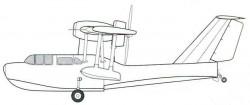 Проект самолета-амфибии с мотором М-12