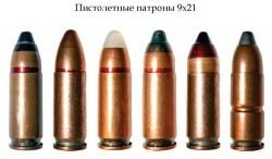 Пистолетные патроны 9х21