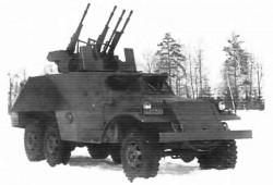 Опытная зенитная самоходная установка ЗИС-152Д с ЗТПУ-4